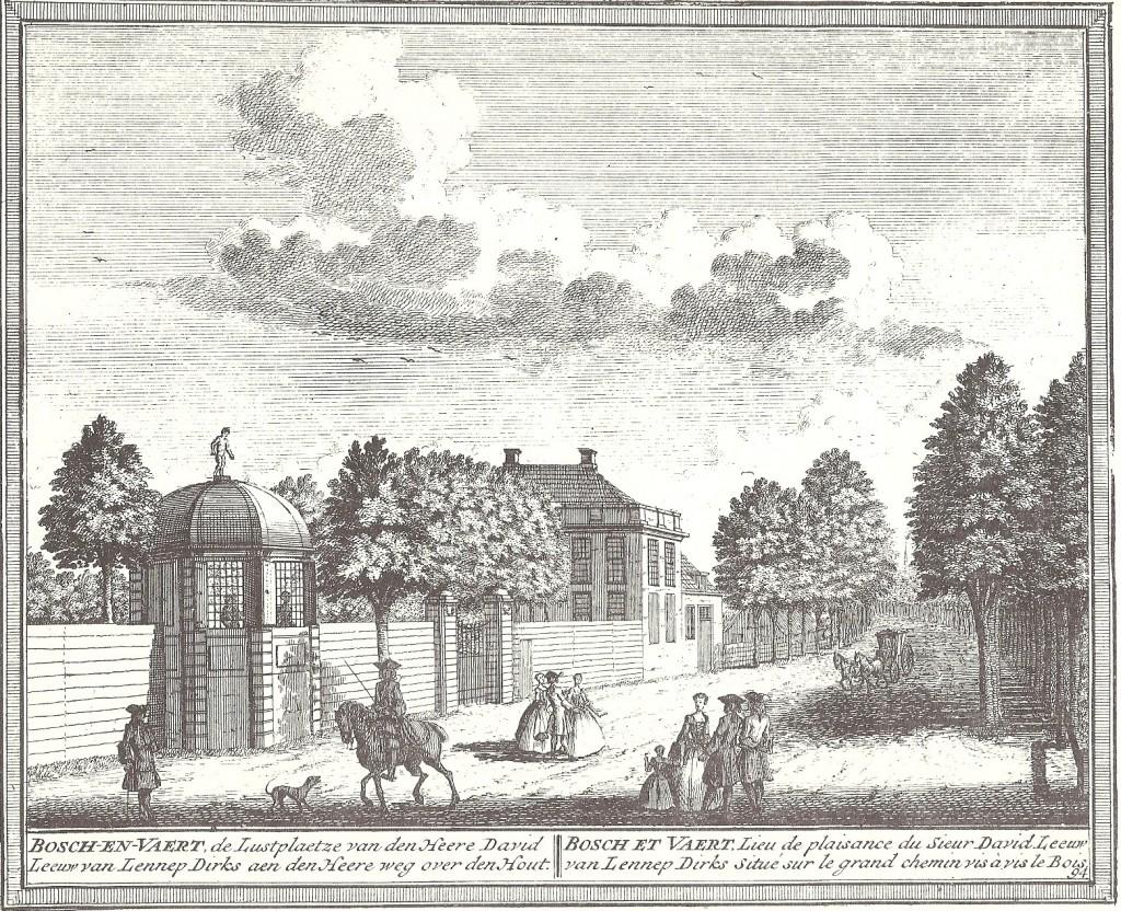 De lustplaats Bosch en Vaart van David Leeuw van Lennep