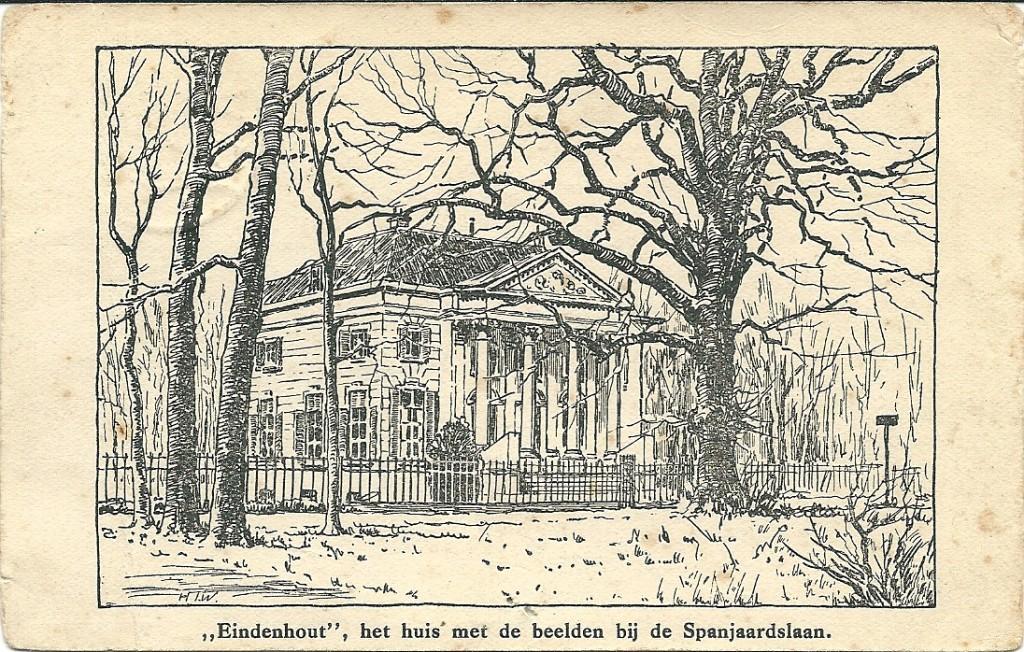 Eindenhout huis met de beelden