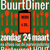 Jaarvergadering & Buurtdiner 2.0 op zondag 24 maart